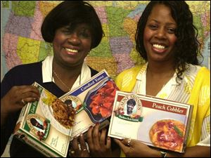 Mother-daughter team of Minnie Sebree, left, and Claudia Sebree-Brown created Aunt Minnie's frozen Southern meals.
