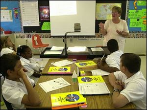 Teachers conducted the interviews to fill teaching positions at the school at Grove Patterson School in west Toledo.