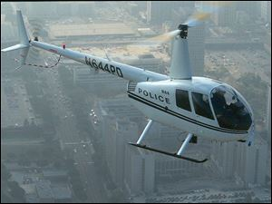 The helicopter would be used in police chases and for surveillance, search and rescue, night patrols, and other emergency situations.