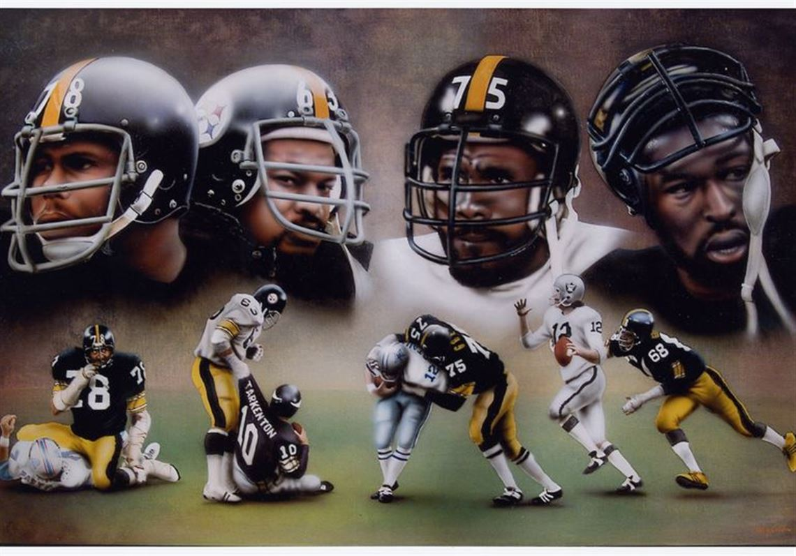 58e3186d830c Terry Cousino's rendering of Pittsburgh's renowned defensive linemen in the  1970s: Dwight White, left