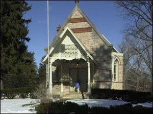The 110-year-old chapel is listed on the National Register of Historic Places.