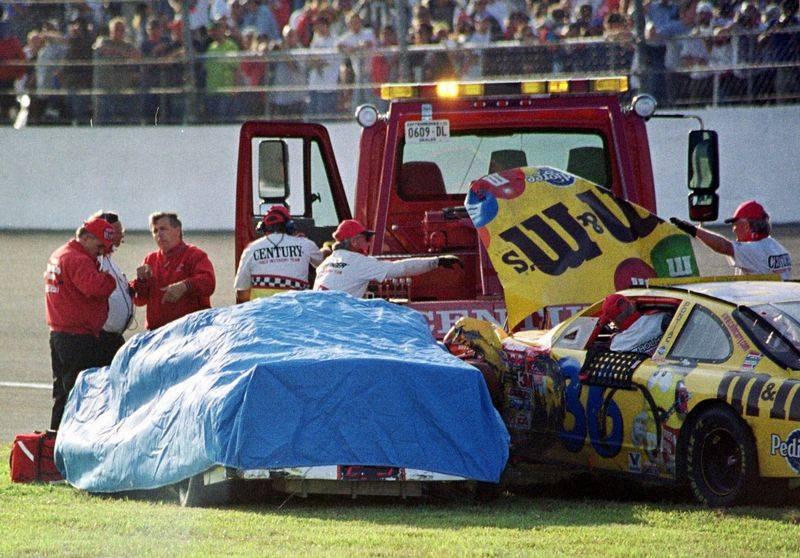 NASCAR mourns loss of legend Earnhardt - The BladeDale Earnhardt Bloody Car