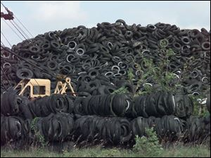 Rebecca Williams, her husband, Donald, and her mother, Doris Kirby, have been ordered to clean up more than 20 million tires from the storage site along State Rt. 231 in Sycamore.