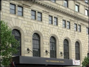 The Commodore Perry was renovated into apartments with two first-floor clubs.