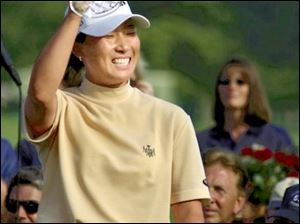 Se Ri Pak took the $150,000 winner's check for yesterday's two-stroke victory at Highland Meadows in Sylvania. She has won $472,933 in the past four Jamie Farr Kroger Classics.
