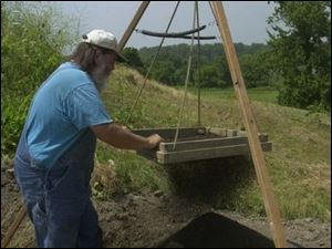 `A good place to live is a good place to live. You can see why they picked this spot,' says Bill Pickard, an archaeologist with the Ohio Historical Society, sifting through the soil.
