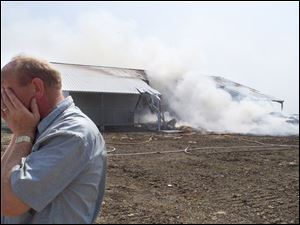 Henk Arts started the farm last year after moving to Convoy, Ohio, from the Netherlands. There were no injuries in the fire.