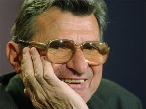 Penn State coach Joe Paterno, 74, has taken more of a hands-on approach lately, even showing his players how to tackle.