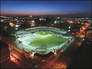 On warm summer nights, Fifth Third Field will light up downtown Toledo. The finishing touches are being put on the park. The Mud Hens begin their first season at the park on April 9.