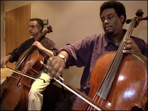 After `Lincoln,' Robert Clemens, left, and Damon Coleman will play a Vivaldi concerto.