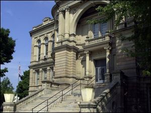 The Seneca County Courthouse, a Beaux Arts structure that was built in 1886.