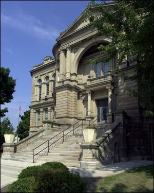 The Seneca County Courthouse, a Beaux Arts structure that was built in 1886, was torn down in 2012. The proposed justice center would be built on that same site.