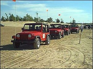 Sandy Korners Jeep Rentals takes tourists to spots including sand dunes in its fleet of 14 Jeep Wranglers.