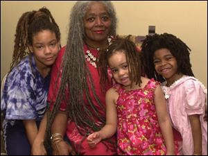 Twila Page with daughter Johnna Rice, left, granddaughter Jumoke Ayodeji, 5, and daughter Paulette Rice, 5.