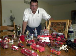 Steve Starkloff, Maumee firefighter, finds most of his toys at antique malls.