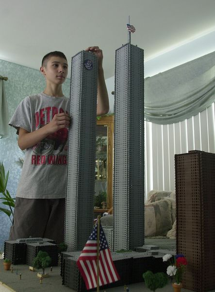 Teen Constructs Wtc Site Model Of Strong Towers Before
