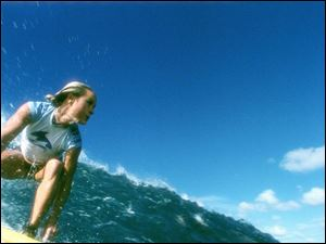 Kate Bosworth plays a surfer who is lured away from training for a major tournament by a pro football player.