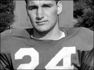 Jim White in 1956: At Ottawa Hills High School he starred at quarterback. He then attended Princeton University and later earned law degrees from Ohio State University and New York University.