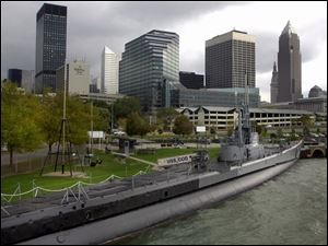 The USS Cod, moored in Cleveland, is one of only 15 remaining World War II fleet subs.
