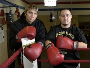 Toledo's Devin Vargas, left, is USA Boxing's No. 2-ranked heavyweight and has been working out with the top-ranked amateur super heavyweight, George Garcia.