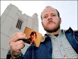 William Claar, 43, with a teenage photo of himself, says he was molested repeatedly.
