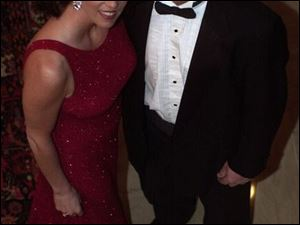 FORMAL AFFAIR: Sandra Seiple and husband, Chris, are among the party-goers at the Toledo Club dinner-dance.