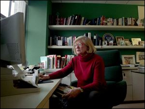 Judith Richards Hope works at her office in Washington.