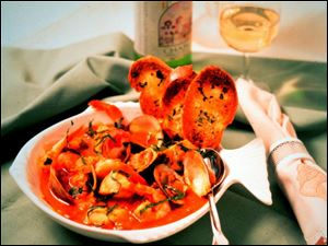 Cioppino, a tomato-based fish stew, is a hallmark of San Francisco cuisine.