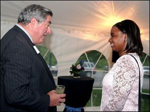HIGH-LEVEL TALKS: Joe Magliochetti chats with Mieasha Hicks, Boys and Girls Clubs' Ohio Youth of the Year.