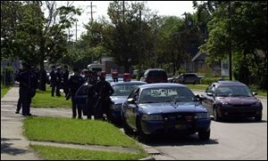 Michigan State Police troopers continue to patrol Benton Harbor, where rioting began Monday night over a fatal police chase.