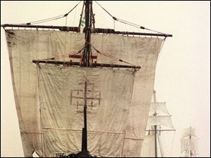 Among the vessels expected at the Huntington Tall Ships Toledo festival is the Nina, a replica of a 15th century caravel, the type of ship Christopher Columbus sailed to the New World.