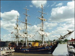 The HMS Bounty, a replica of a famous vessel known for a mutiny in 1789, will be on display.