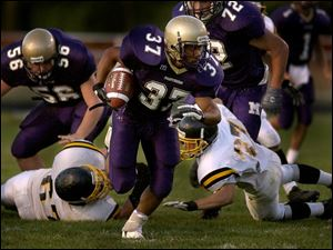 Gold team member Chris Jones of Maumee led the Northern Lakes League in rushing.