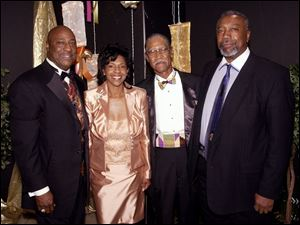 ELEGANT EVENING: From left, Calvin Lawshe, Debbie Barnett, Weldon Douthitt, and Ed Scrutchins at A.S.S.I.S.T. Awards.