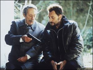 Jean Rochefort and Johnny Hallyday in Man on the Train.
