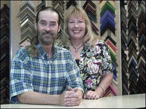 Owner Bill Chapin and wife, Tish, hope to sell the Frame Shop and the Town Gallery art shop on Adams Street.