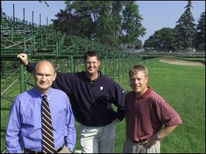 Highland Meadows general manager Mike Searle, left, course superintendent Mark Mixdorf and pro Nick Myers are ready.