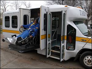 There have been four or five times that were really outrageous,  says Sandra Preston, getting out of a Toledo Area Regional Paratransit Service bus, which at times can be late in picking up those who call to request a ride.