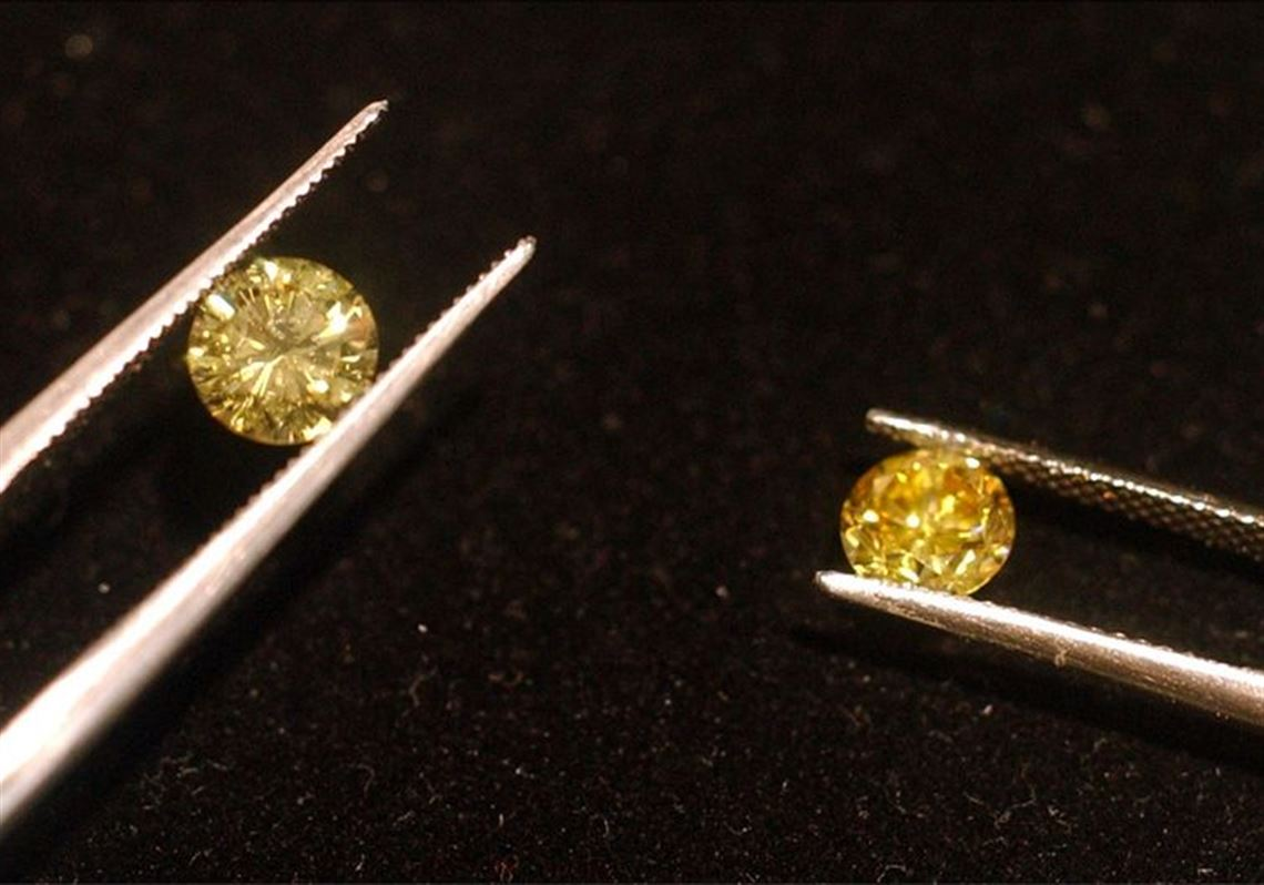 The Yellow Diamond On Left Is A Mined Costing About 20 000