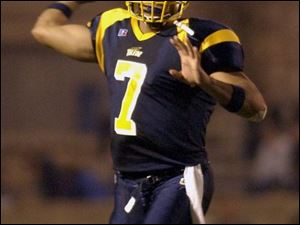 Even after just nine games as a starter, Toledo sophomore quarterback Bruce Gradkowski is closing in on UT and MAC records. Gradkowski has an 81.95 completion percentage at the Glass Bowl this year.