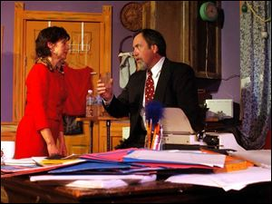 Debbie Marinik plays Theda Blau and Larry Farley is Vito Pignoli in the Village Players production of <i>It Had To Be You</i>, which opens tonight.