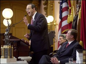 In his State of the State speech yesterday, Gov. Bob Taft urges raising investment aimed at high-tech employment.