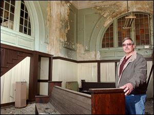 Ralph Hahn and other members of Historic Homes of Defiance want to help restore the city's two-story railroad depot.