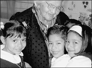 Albina Cruces Vazquez, 101, has taught school for 86 years.