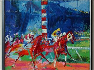 <i>Clubhouse Turn</i> by LeRoy Neiman
