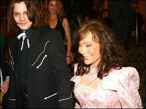 "Rocker Jack White, left, served as producer of Loretta Lynn's latest album, ""Van Lear Rose,"" which was one of the most unusual country collaborations in years."