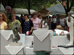 Last year's Art on the Mall event at the University of Toledo attracted a large crowd.