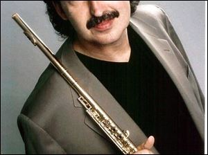 Flutist Alexander Zonjic will perform at the River Raisin Jazz Festival.