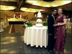HINDU TRADITION: Sharat Kumar and Iris Morehouse make it official in an ancient way.