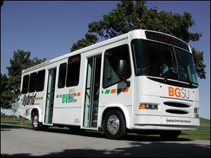 BGSU hopes to license the hybrid diesel/electric propulsion system used in this bus to an Indiana bus manufacturer.